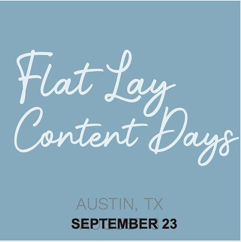 FLAT LAY CONTENT DAYS - Austin, TX