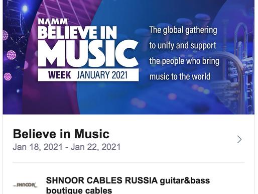 namm Believe in music week 2021