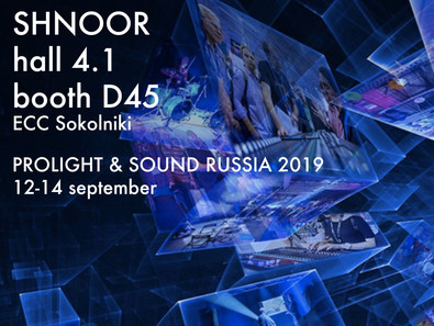 SHNOOR@Musikmesse and Prolight+Sound MOSCOW 2019