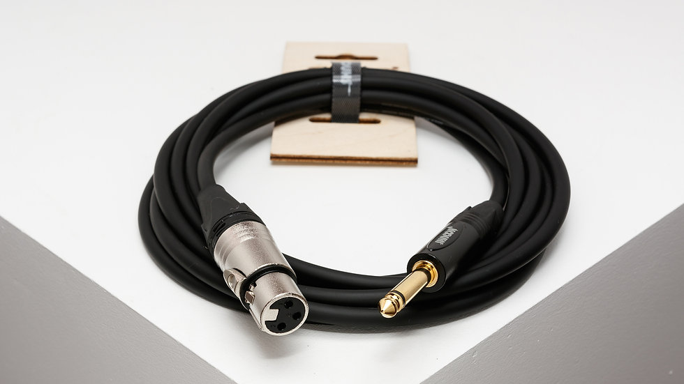 "XFJM unbalanced cable with 3-pole XLR female and 6,3 mm (1/4"") TS Jack connector"