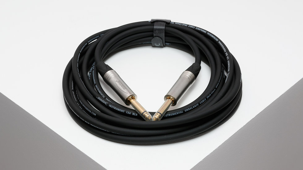 JMJM-S instrumental cable with staright niсkel plated 6,3 mm TS jack connectors