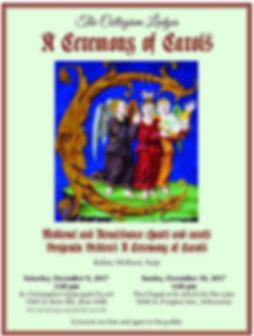 Ceremony of Carols concert event poster