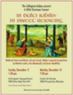 In Sweet Rejoicing concert event poster