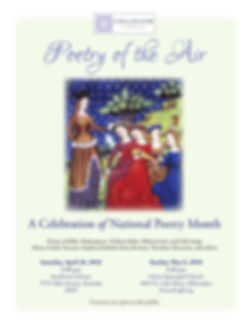 Poetry of the Air concert event poster