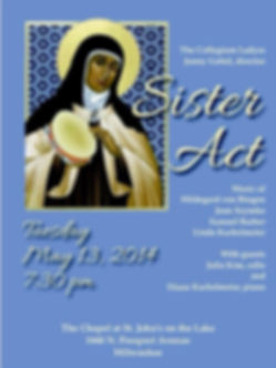 Sister Act concert event poster