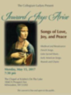 Inward Joys Arise concert event poster
