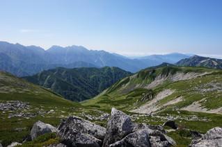 美しき北アルプスの峰々