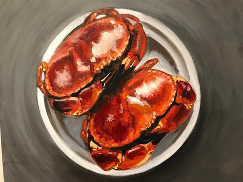 Crabs. Oil on canvas. 60x60cm SOLD