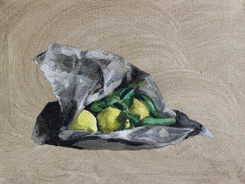 Market Lemons. Oil on canvas. SOLD.