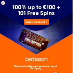 betsson welcome bonus free spin