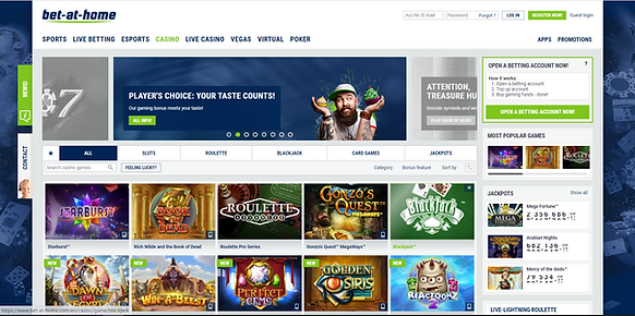 bet-at-home casino homepage