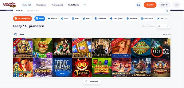 Vulkan-Vegas-Casino-homepage