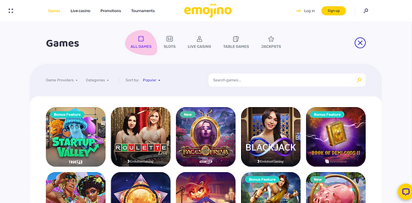 emojino homepage