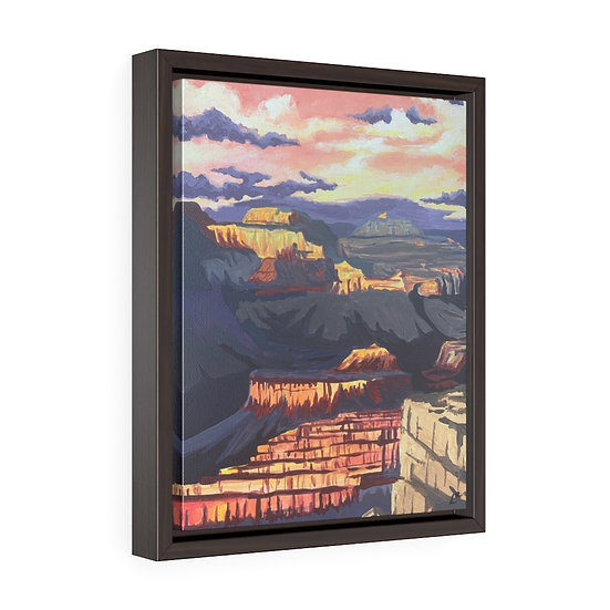 Grand Canyon National Park - Framed Premium Gallery Wrap Canvas