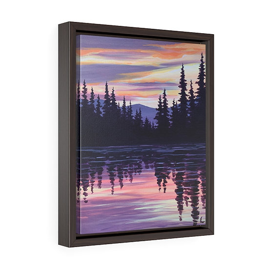 Evergreen Reflection- Framed Premium Gallery Wrap Canvas
