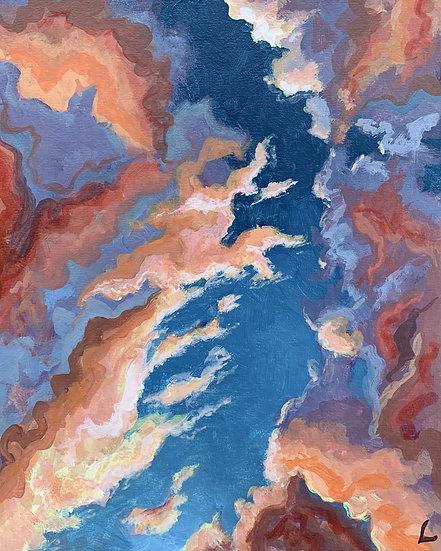 Orange Clouds Original Painting