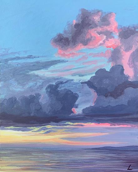 Pastel Storm Original Painting