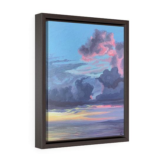 Pastel Storm- Framed Premium Gallery Wrap Canvas