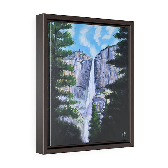 Yosemite Falls, Yosemite - Framed Premium Gallery Wrap Canvas