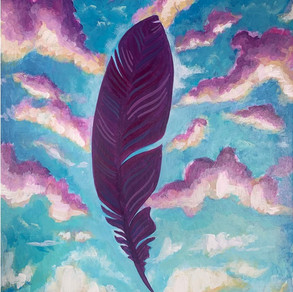 Purple Feather on the Wind