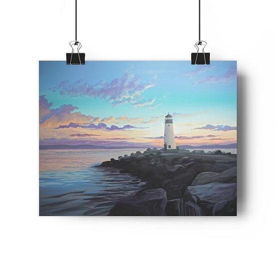 Walton Lighthouse, Santa Cruz - Giclée Art Print