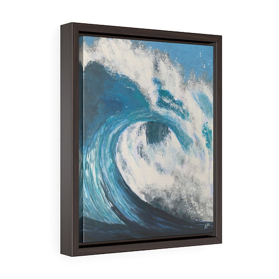 The Curl - Framed Premium Gallery Wrap Canvas