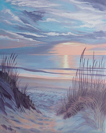 Pastel Grasses Original Painting