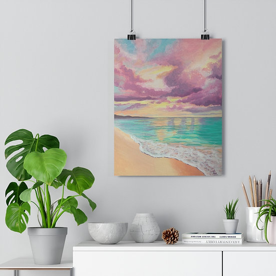 Pastel Skies Beach - Giclée Art Print