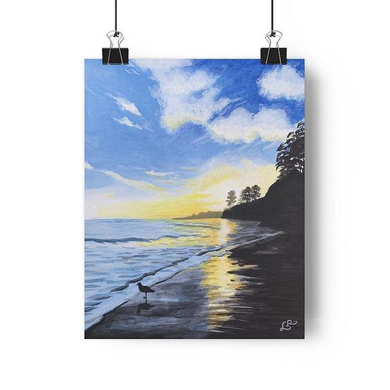New Brighton Beach at Sunset - Giclée Art Print