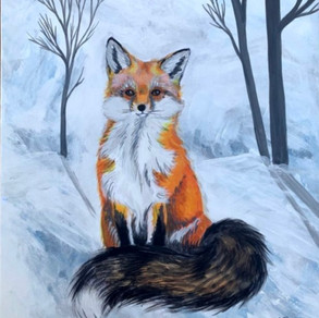 Lil' Fox in the Snow