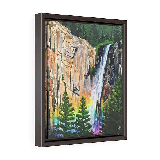Bridal Veil Falls, Yosemite - Framed Premium Gallery Wrap Canvas