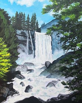 Vernal Falls, Yosemite - Giclée Art Print