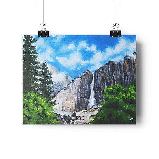 Nevada Falls, Yosemite - Giclée Art Print