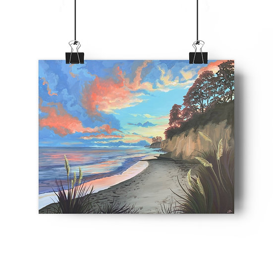 New Brighton Sunset, Santa Cruz - Giclée Art Print
