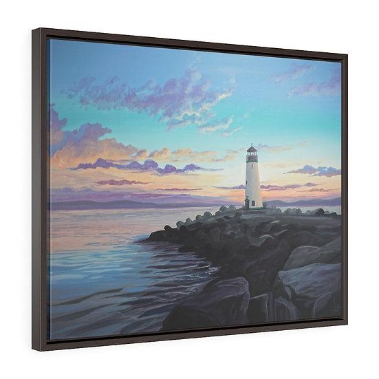 Walton Lighthouse, Santa Cruz - Framed Premium Gallery Wrap Canvas