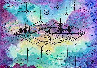 We can call it geometric nature art. Thi