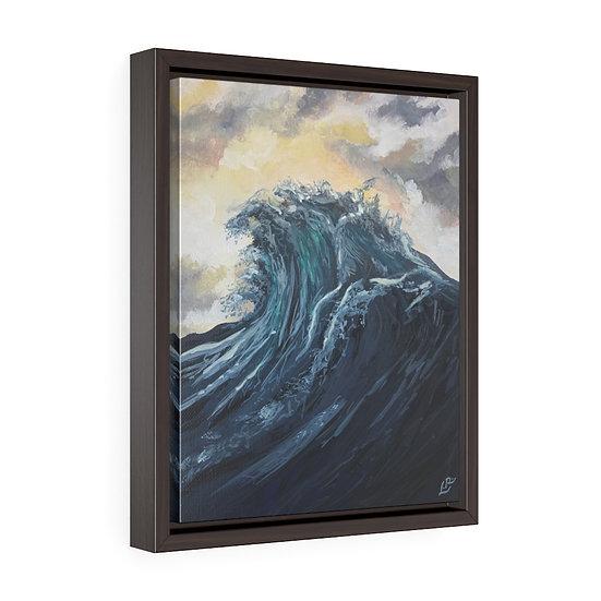 Sebastion's Wave - Framed Premium Gallery Wrap Canvas