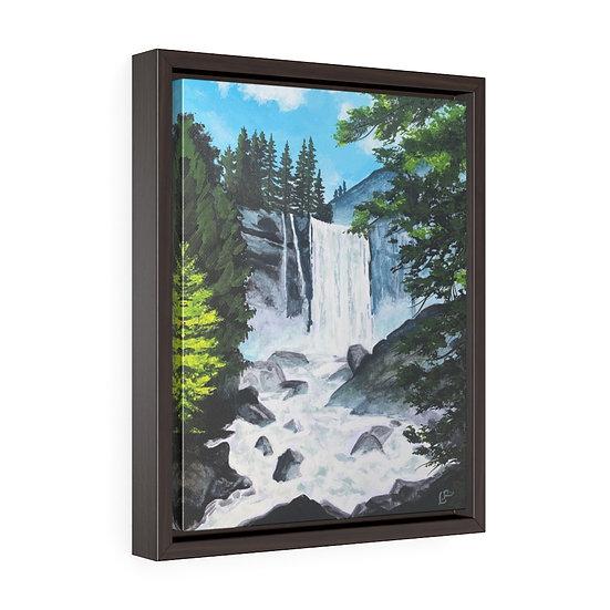 Vernal Falls, Yosemite - Framed Premium Gallery Wrap Canvas
