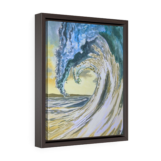 Sun Touched Waters - Framed Premium Gallery Wrap Canvas