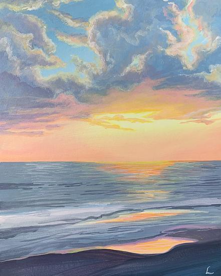 Pastel Highlight Original Painting