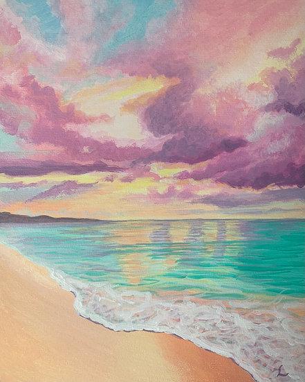Pastel Skies Beach Original Painting