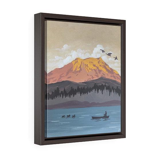 Mount Ranier- Framed Premium Gallery Wrap Canvas