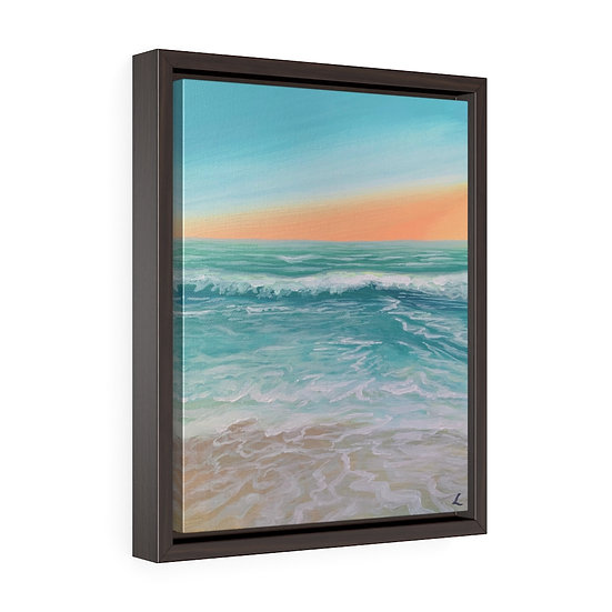 Pastel Ebb- Framed Premium Gallery Wrap Canvas