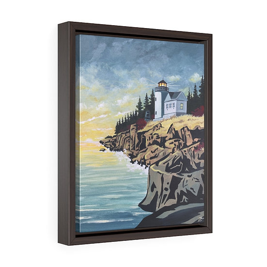 Acadia Lighthouse- Framed Premium Gallery Wrap Canvas