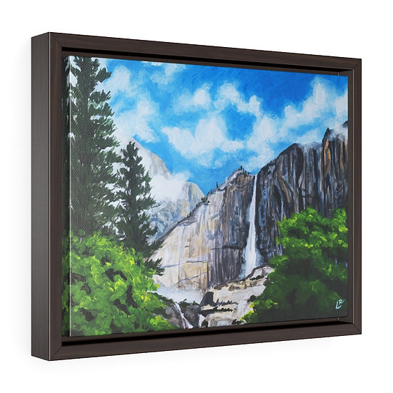 Nevada Falls, Yosemite - Framed Premium Gallery Wrap Canvas