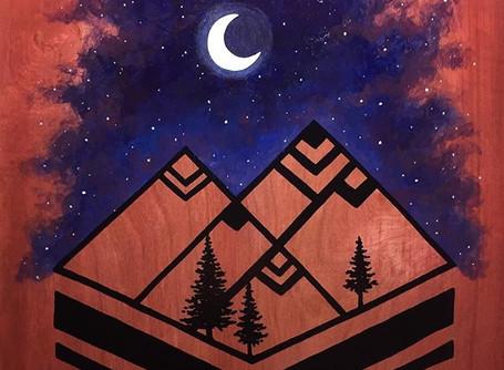 Geometric Wood Paintings