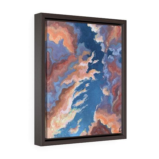 Orange Clouds- Framed Premium Gallery Wrap Canvas