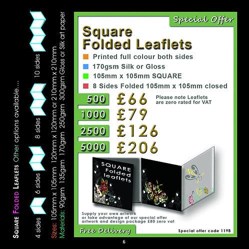 2500 Square Folded Leaflets
