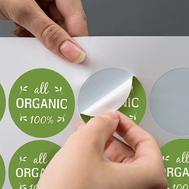 51mm circular gloss vinyl stickers by An