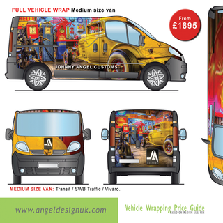 Van Wraps Guide Price 10 Angel Design UK